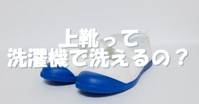 洗濯機で上靴を洗う