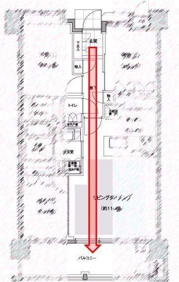 間取り図-視界が一直線